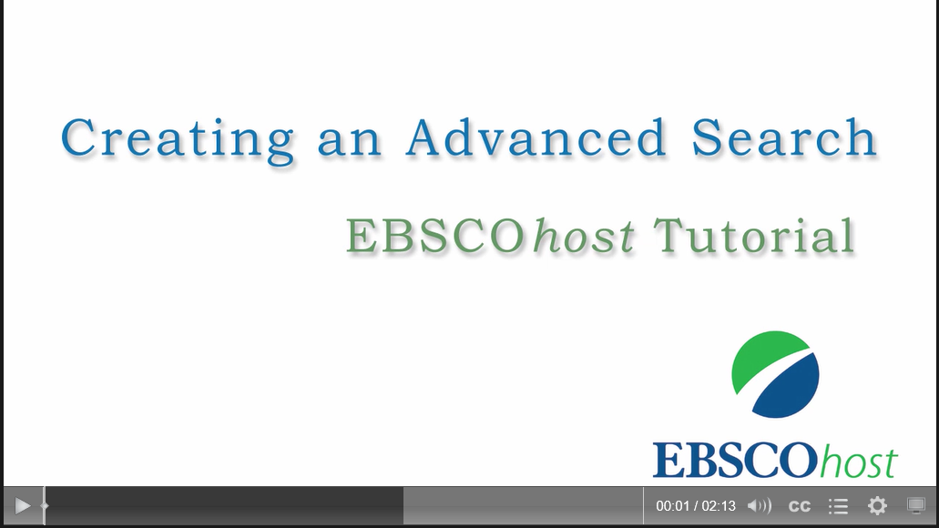 EBSCOhost advanced search