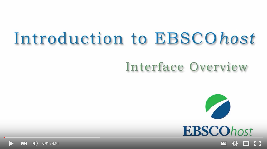 EBSCOhost basic search