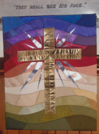 Banner from a craft display at St. Andrew's, Rangi Ruru, 2005.