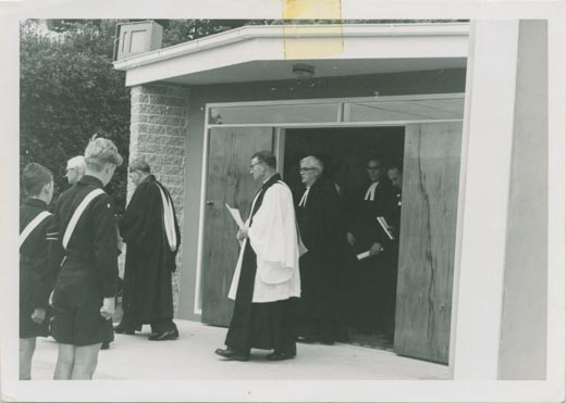 The opening of the new Portobello Presbyterian Church in the early 1960s.