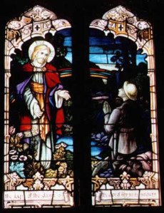Memorial window in Roslyn Presbyterian Church, Dunedin.